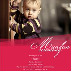 Mundan Invitations
